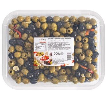 Gemengde Olijven met Paprika 1kg