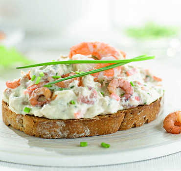 Noordzeesalade met Garnalen 1kg